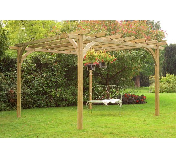 Buy Forest Ultima Chunky Wooden Pergola Kit at Argos.co.uk - Your Online  Shop for Pagodas and pergolas, Garden design accessories, Garden decoration  and ... - Buy Forest Ultima Chunky Wooden Pergola Kit At Argos.co.uk - Your