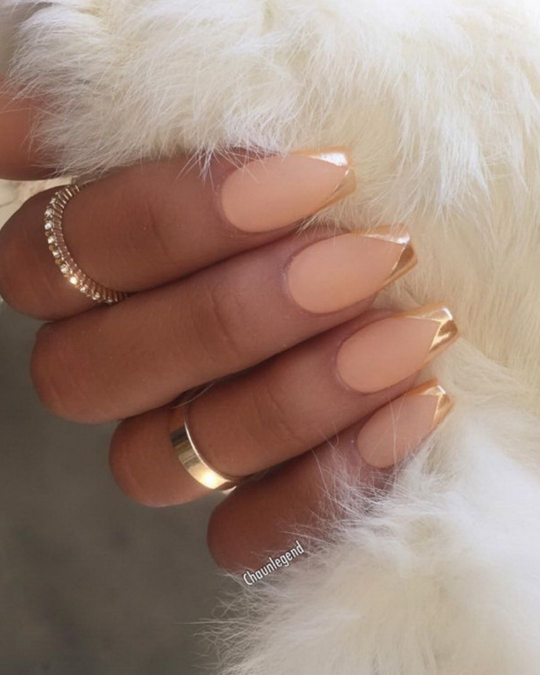 For krissynoelle peach and rose gold bridal nails ideas