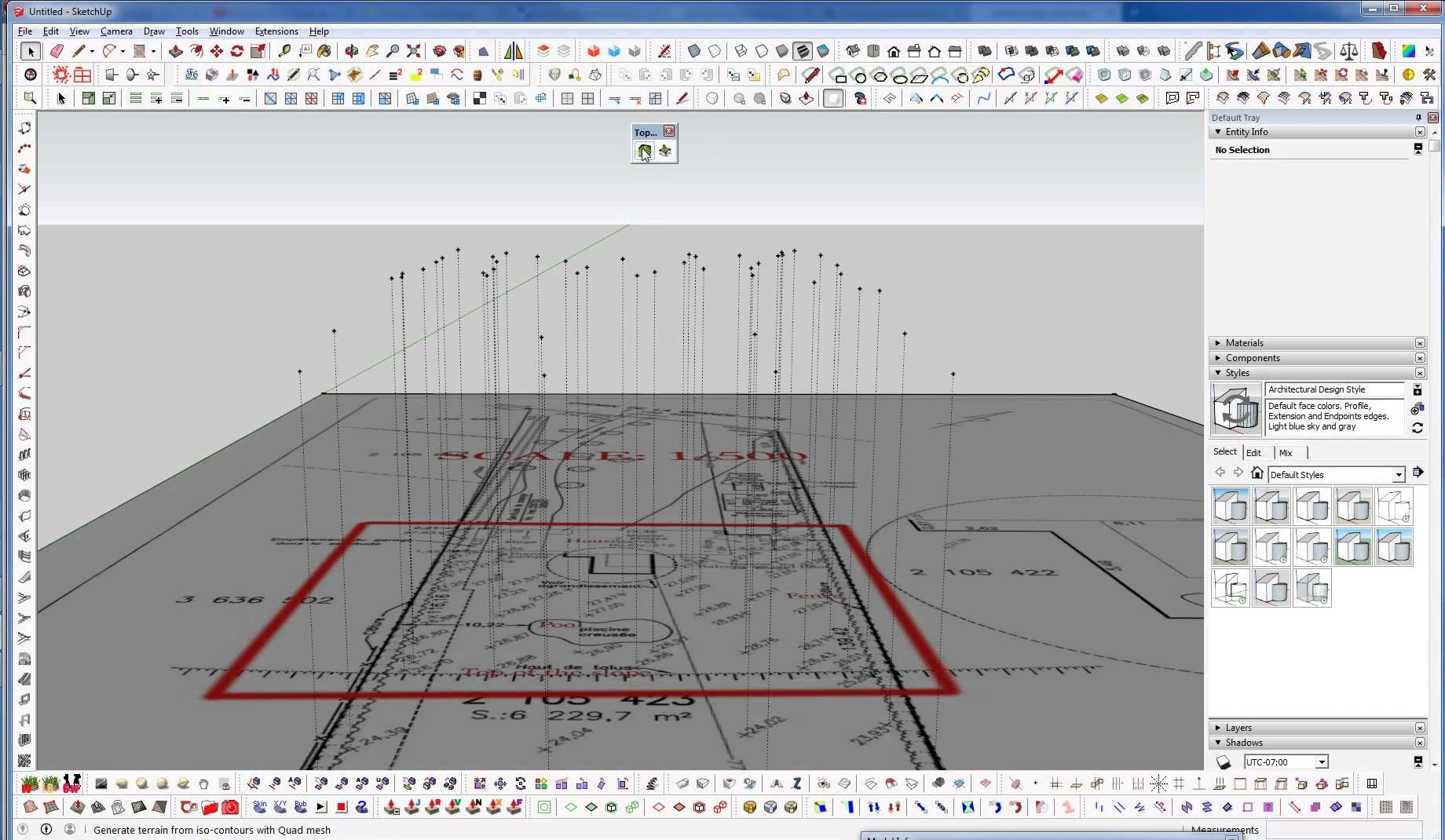 Sketchup Tutorial Creating Terrains From Spot Elevations