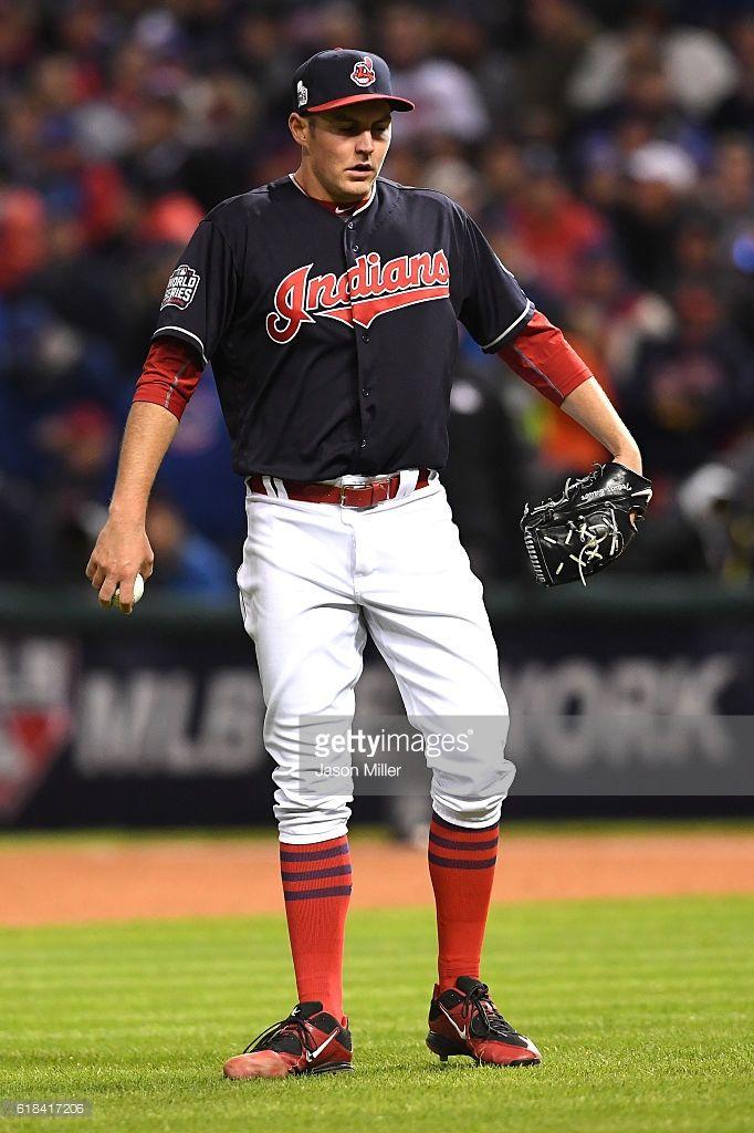 Trevor Bauer Cle Oct 26 2016 Game 2 World Series V Chc Cleveland Indians Trevor Bauer Cute Baseball Players