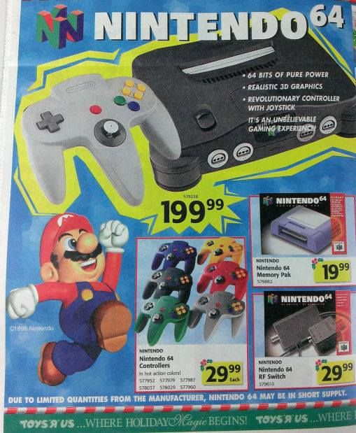 Toys R Us Nintendo 64 Holiday Advertisement Games Card Games Toys