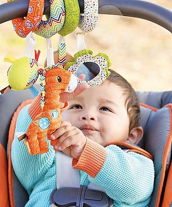 Infantino Go GaGa Spiral Car Seat Activity Toy | Activity toys, Baby ...