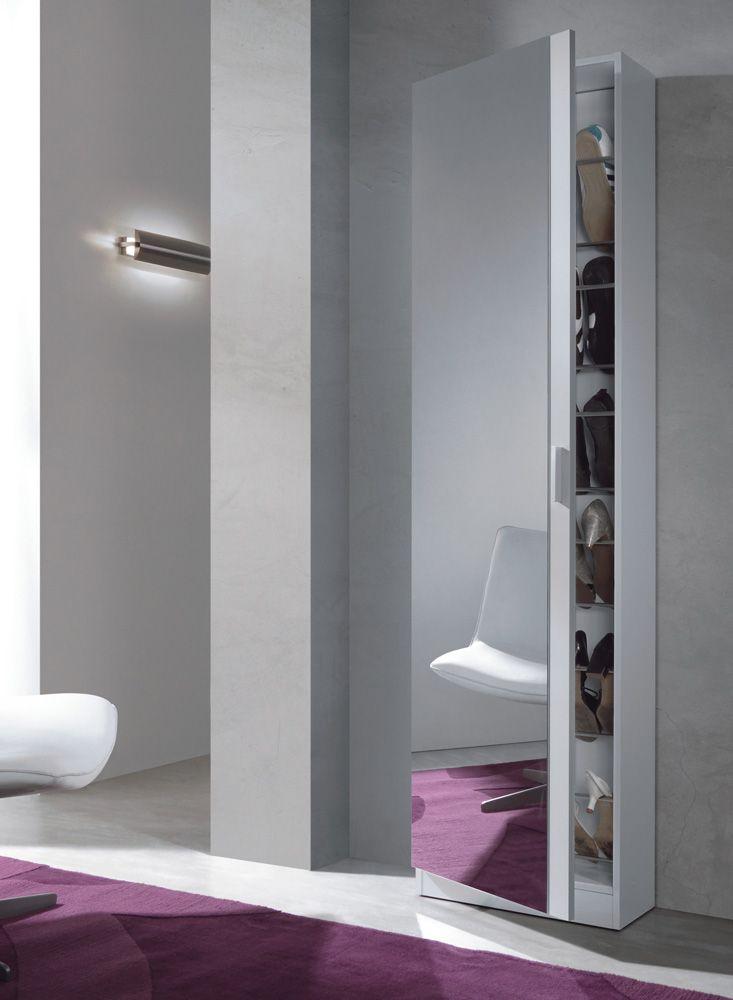 armario zapatero puerta con espejo muebles baratos