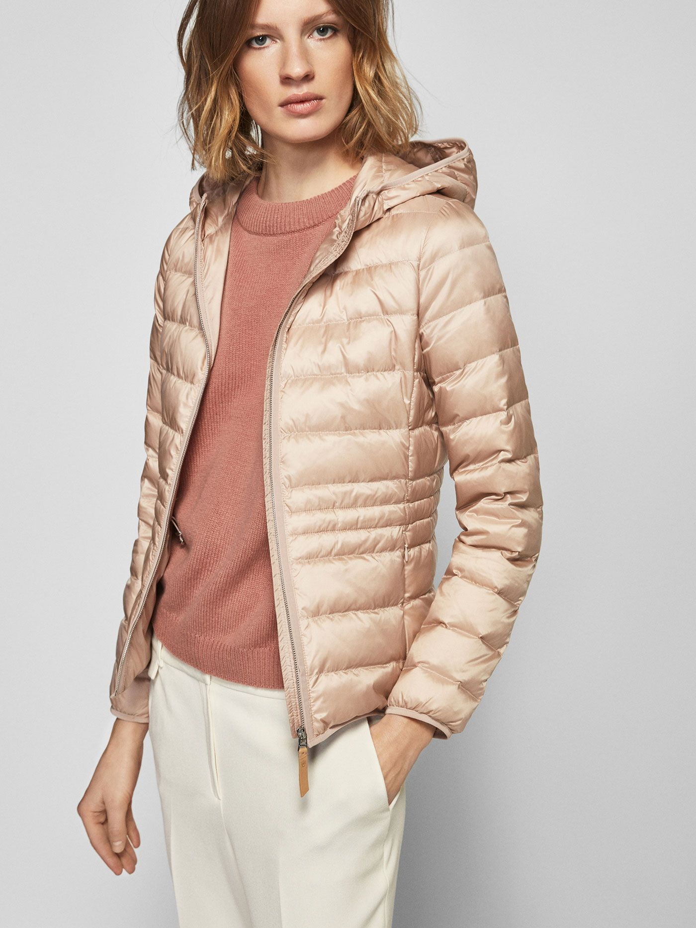 f84baf255d1 Quilted and feather-filled jackets - Outerwear - WOMEN - Massimo Dutti