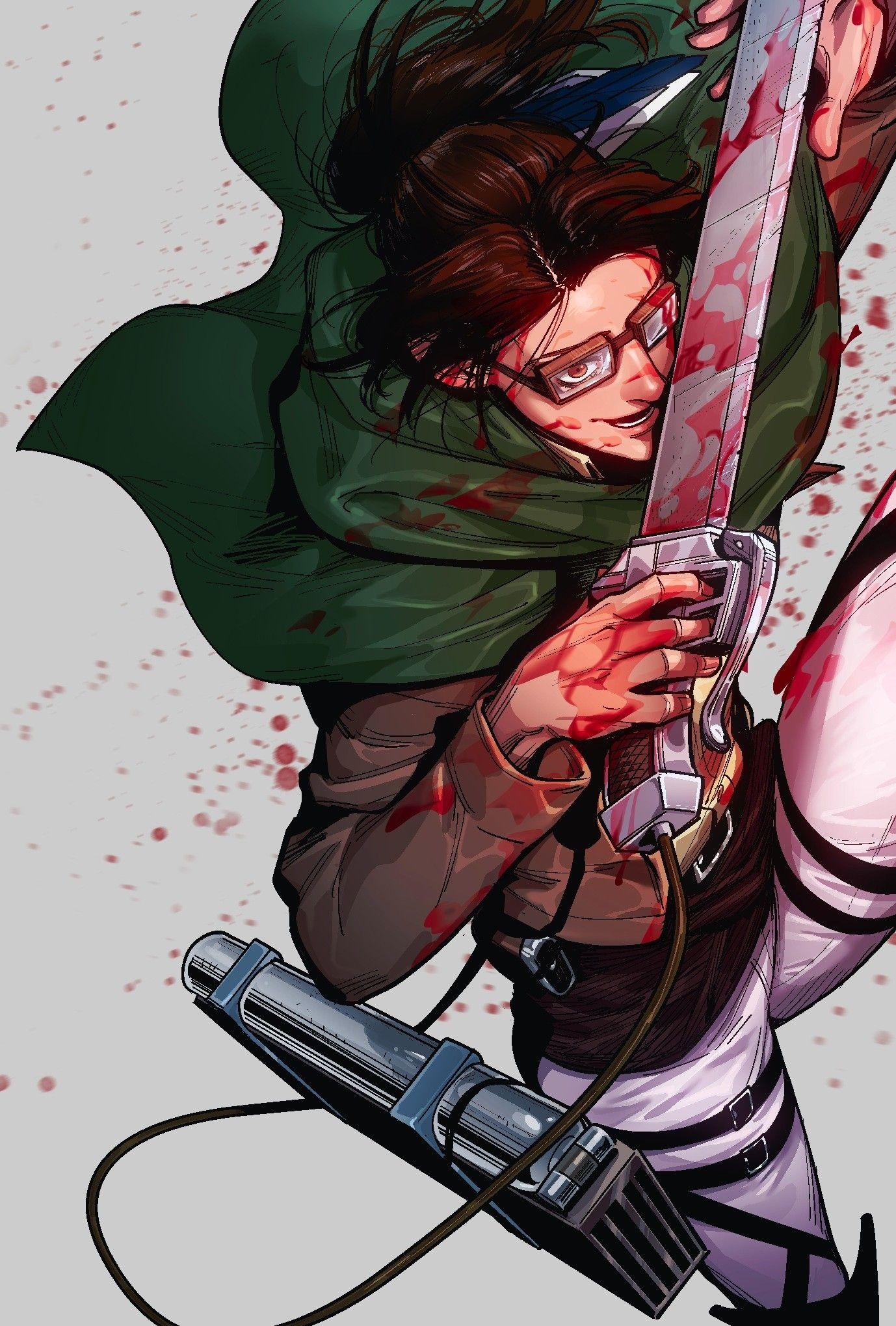Hange Zoe Attack On Titan Anime Attack On Titan Fanart Attack On Titan Art