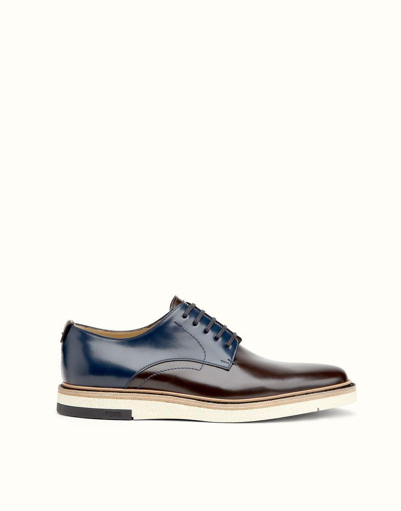 buy online 7928e b0ade FENDI | DERBY CASUAL in pelle spazzolata bicolore | scarpe ...