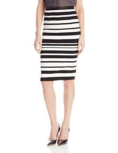 SAM EDELMAN Sam Edelman Women'S Striped Skirt With Center-Back Zipper. #samedelman #cloth #