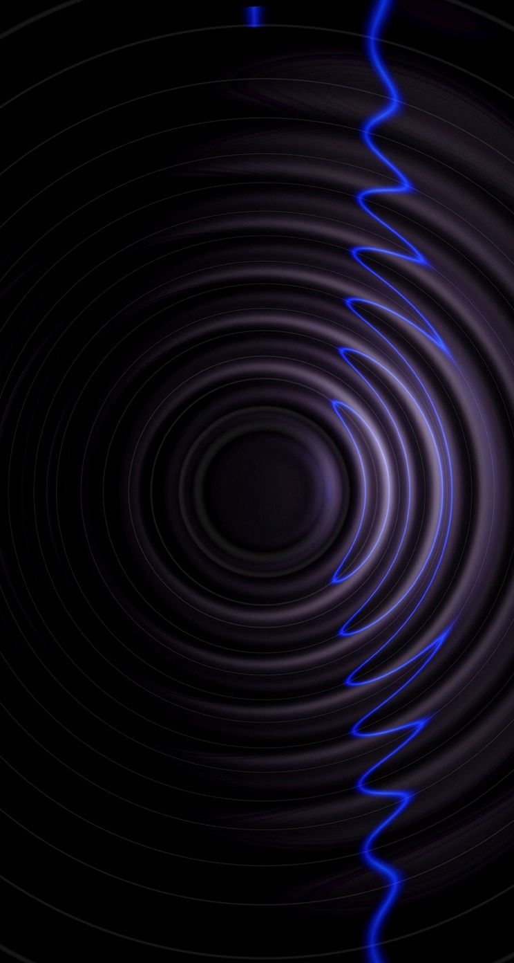 Black And Blue Wavy Wallpaper Black Wallpapers Black