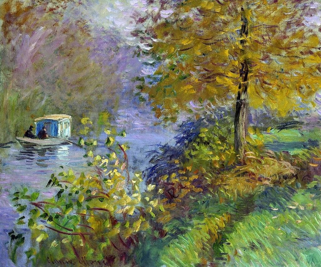 Monet Pintor Cuadros La Bateau Atelier C Monet W 393 Art And Photography