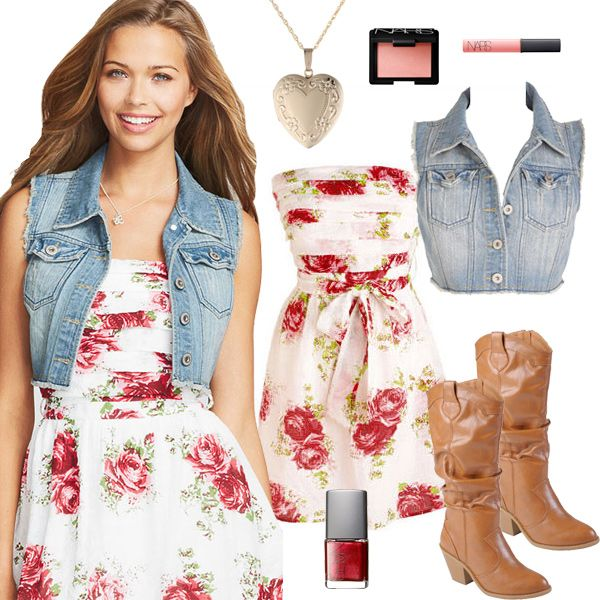 Country Girl Fashion - Flower Summer Dresses - style collages ...