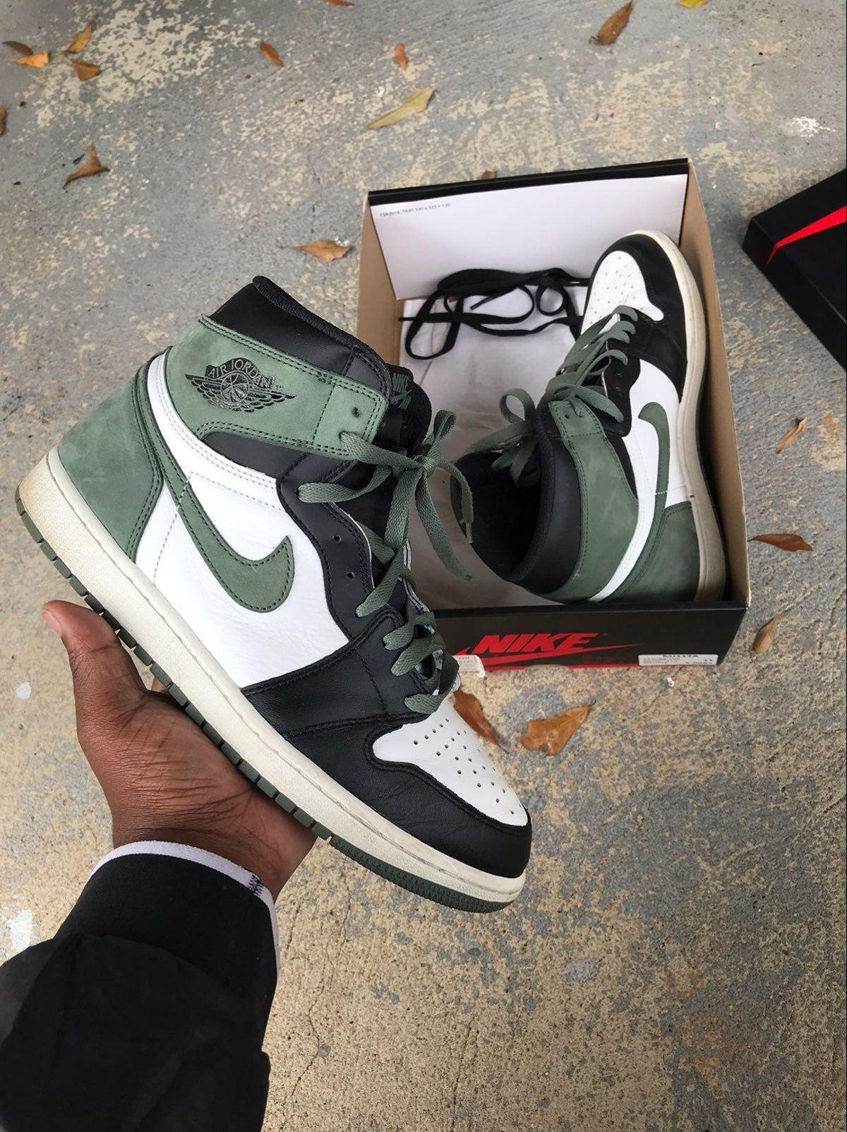 clay green air jordan 1