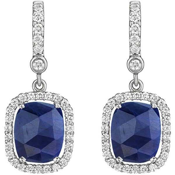 c4a6c1bec857 Penny Preville 18k White Gold Diamond   Sapphire Drop Earrings ...