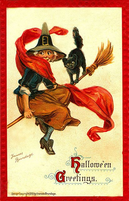Vintage Halloween Postcards By Suzee Que Via Flickr