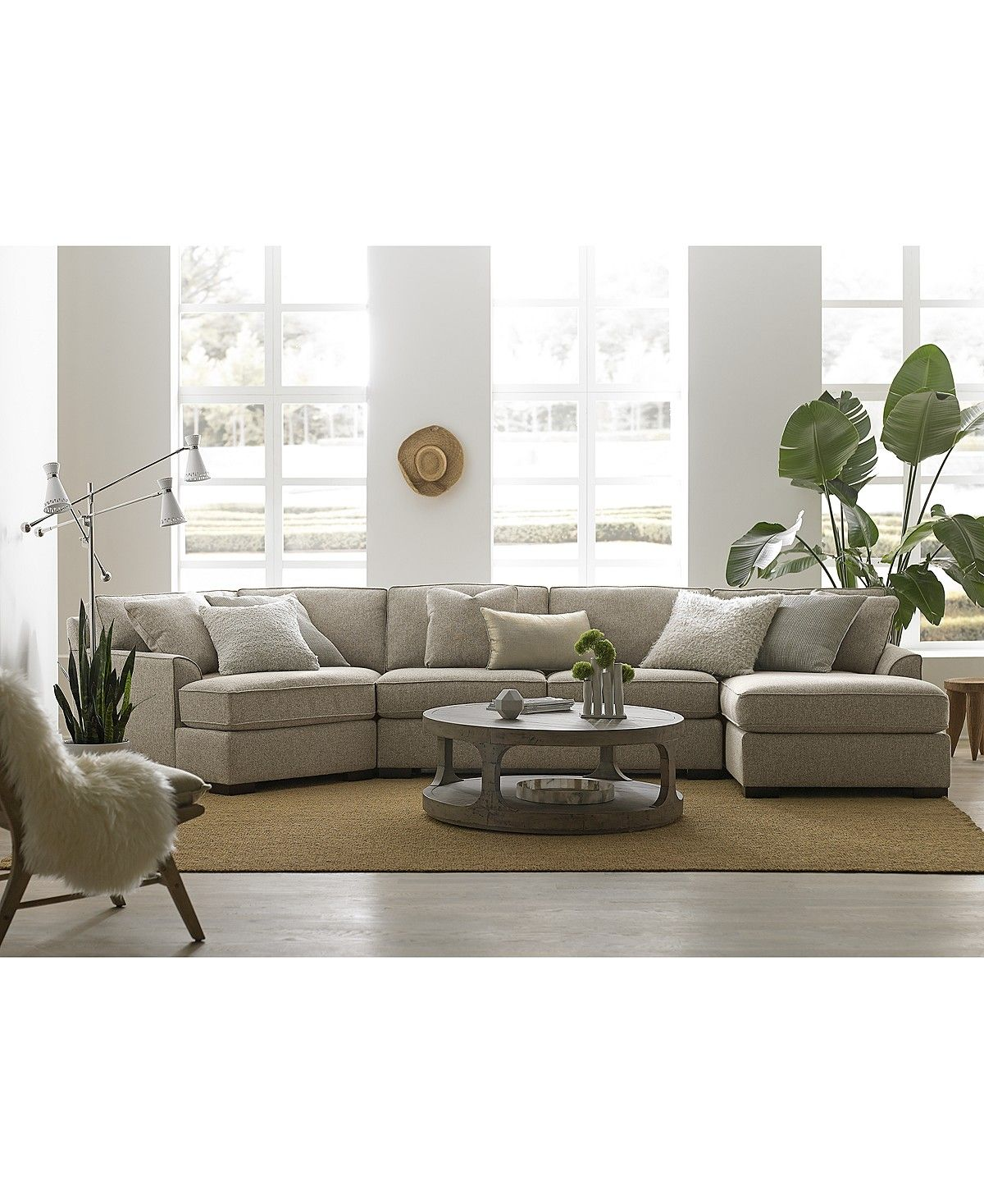Carena 3 pc fabric sectional with cuddler chaise created for macys sectional sofas furniture macys