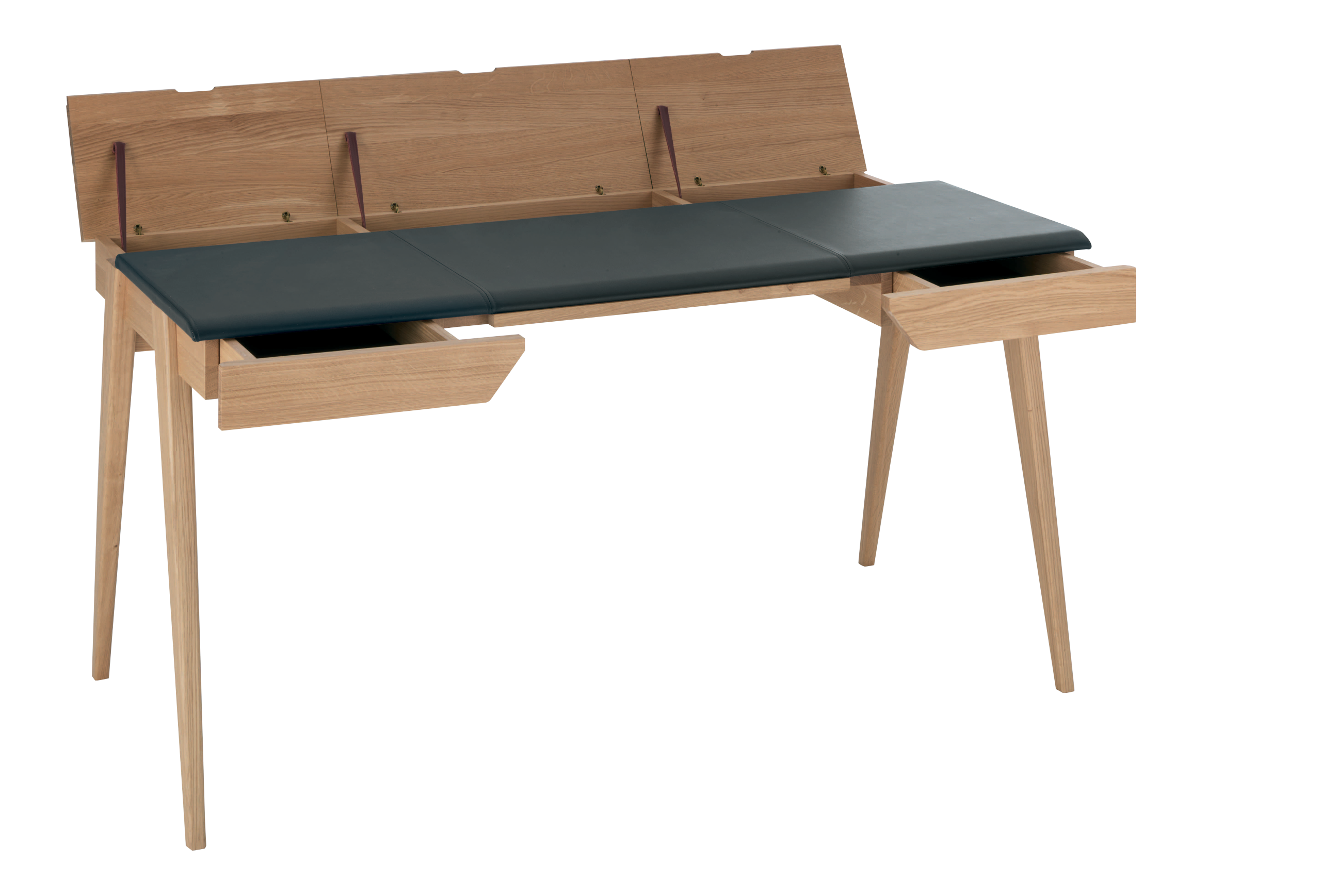 Schreibtisch designermöbel  BECKETT Wandrahmen Braun Leder Holz Habitat Schreibtisch ...
