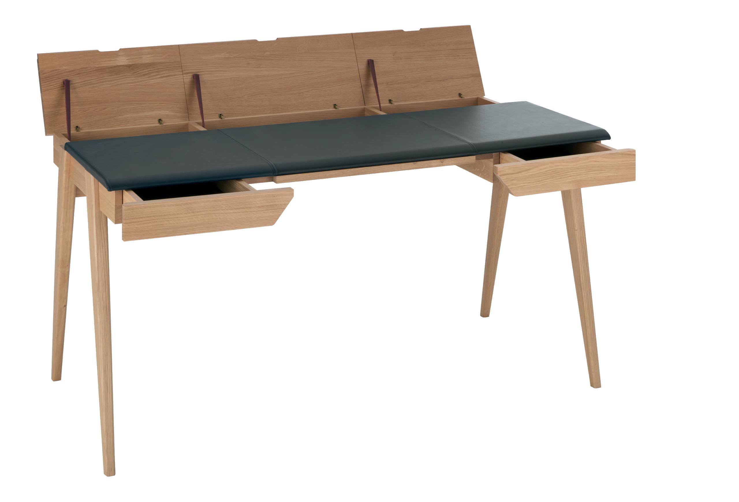 Anspruchsvoll Schreibtisch 140x60 Galerie Von Beckett Großer Aus Eichenholz Und Leder