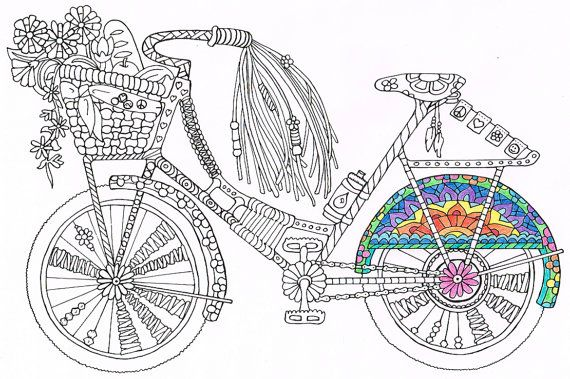Coloring Page Bicycle Printable For By CandyHippie