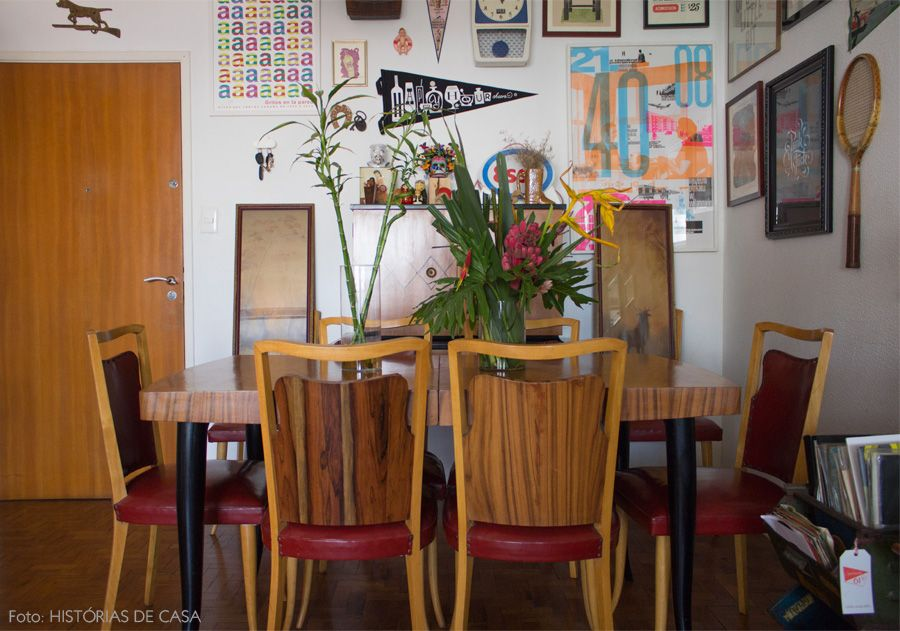 Para os amantes do estilo vintage. Mais desse apê em www.historiasdecasa.com.br #vintage #decor #todacasatemumahistoria