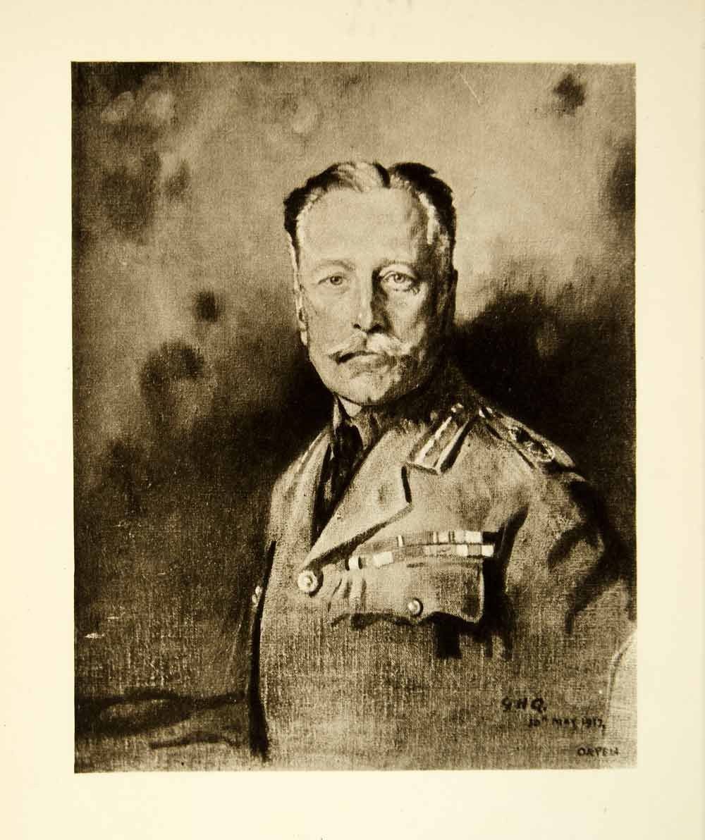 Photo of 1921 Rotogravure William Orpen Art WWI Portriat Field Marshal Earl Douglas XAHA8