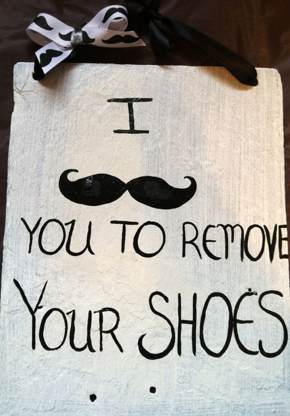 Charmant Mustache Sign, Funny Door Signs, Funny Yard Sign, Home Decor, Remove Your