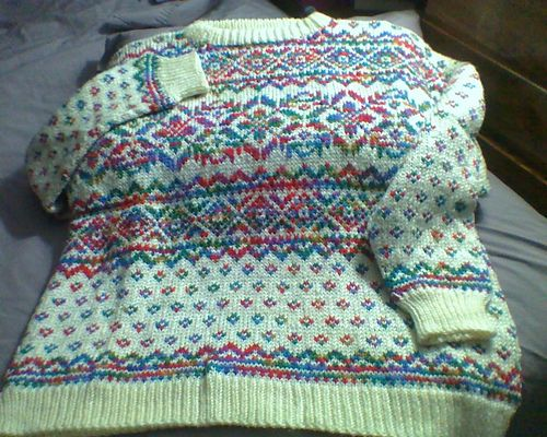 Northern Lights Easy Fair Isle Pullover by Red Heart Design Team ...