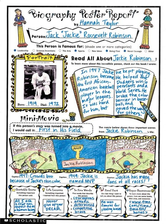 Instant Personal Poster Sets Biography Report Great For Oral Presentations And Bulletin Board Displays Biography Report Book Report Projects Biography