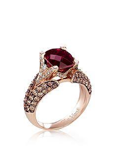 2d082c771ea78 Le Vian® 14k Strawberry Gold® and Raspberry Rhodolite® Garnet Ring ...