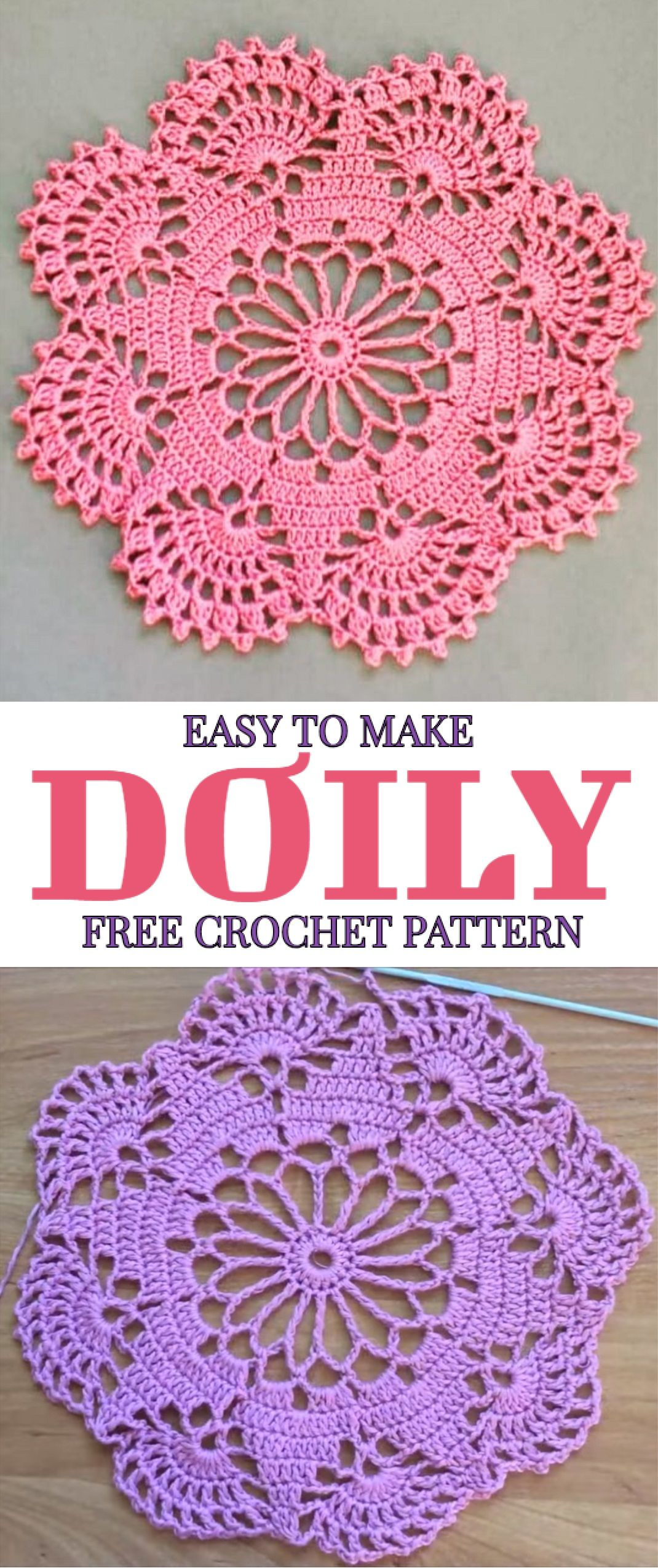 Easy To Make Doily Free Crochet Pattern | Crafting | Pinterest ...