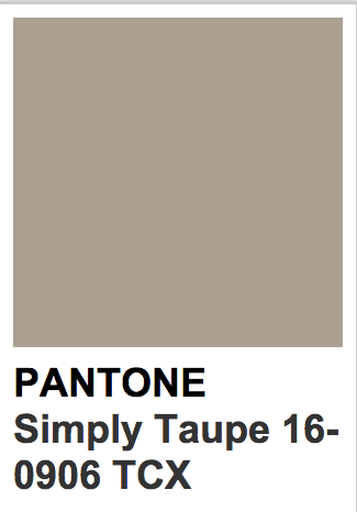 Pantone 16 0906 Tcx Simply Taupe Taupe Color Palettes Pantone Colour Palettes Soft Summer Color Palette