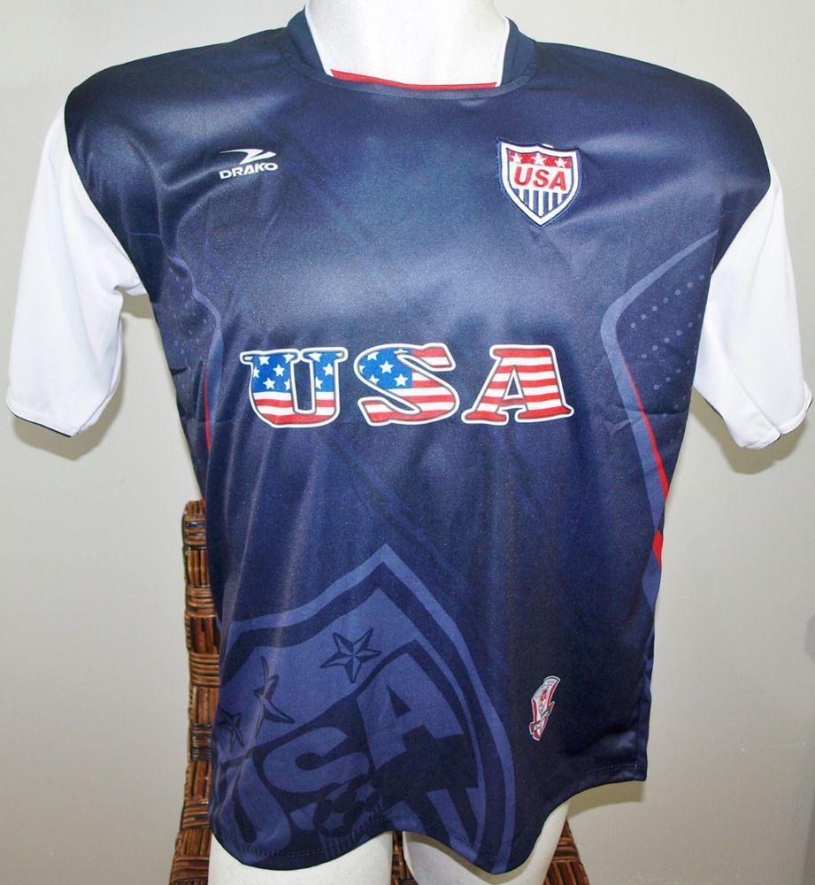 USA SOCCER T-SHIRT DRAKO FÚTBOL ONE SIZE L UNITED STATES OF AMERICA  FOOTBALL  Drako  soccershirts  soccerjerseys  fifaworldcup  football  soccer  ... 3ae3f3f35