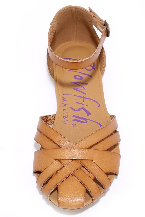 012da33b7bf Blowfish Rode Desert Sand Flat Ankle Strap Sandals at Lulus.com!