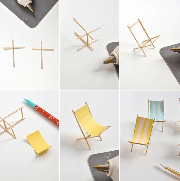 Costruire Sdraio In Legno.Sedia Sdraio Diy Con Imagenes Muebles Para Maquetas Muebles