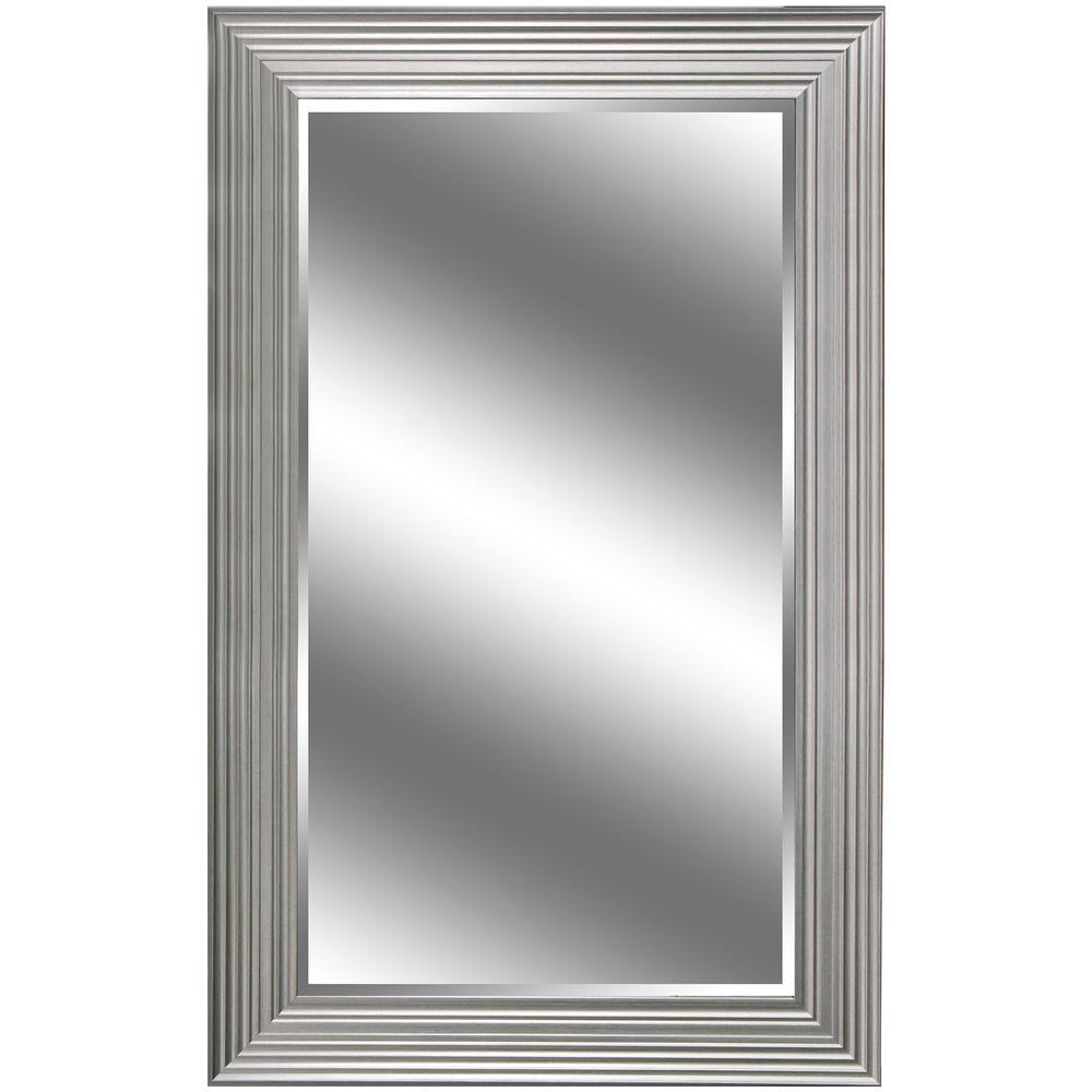 37 In X 60 In Silver Woodgrain Resin Framed Mirror Ec6037swg5s
