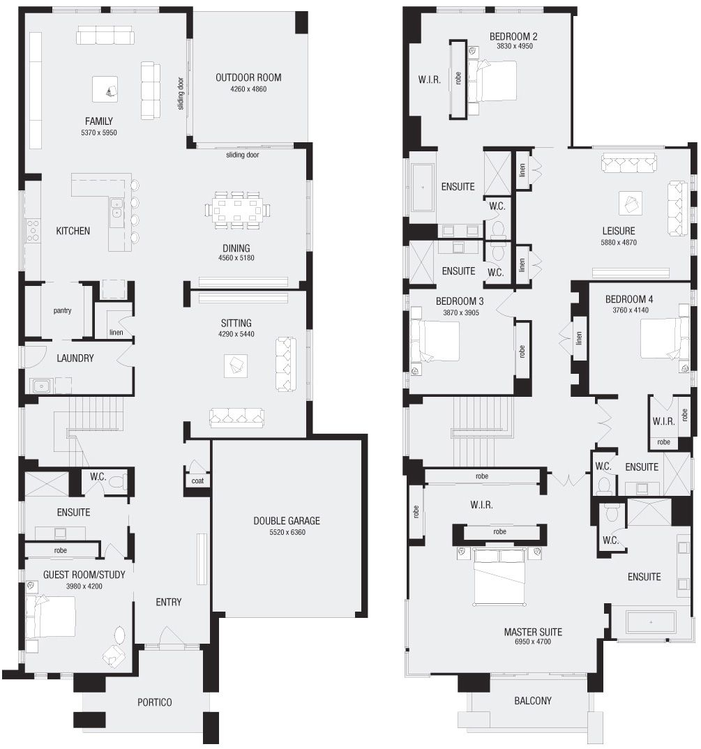Metricon Llindrum 58 Floor Plan Double Story House House Blueprints Tiny House Floor Plans