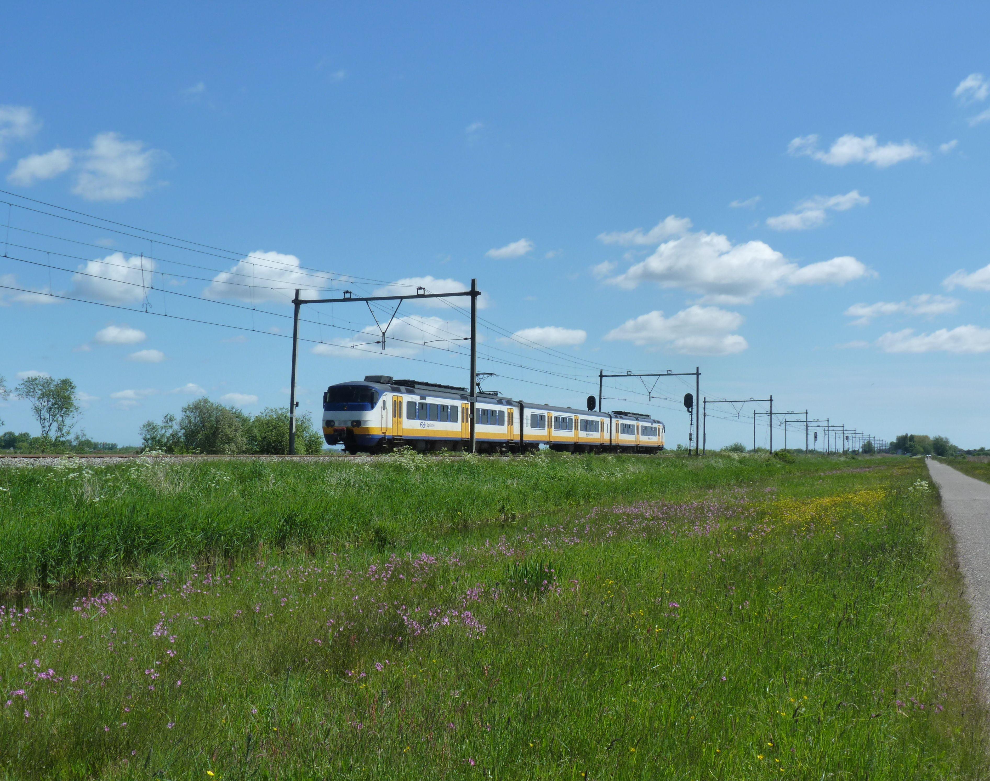 5e traject: trein in polder Oostzaan