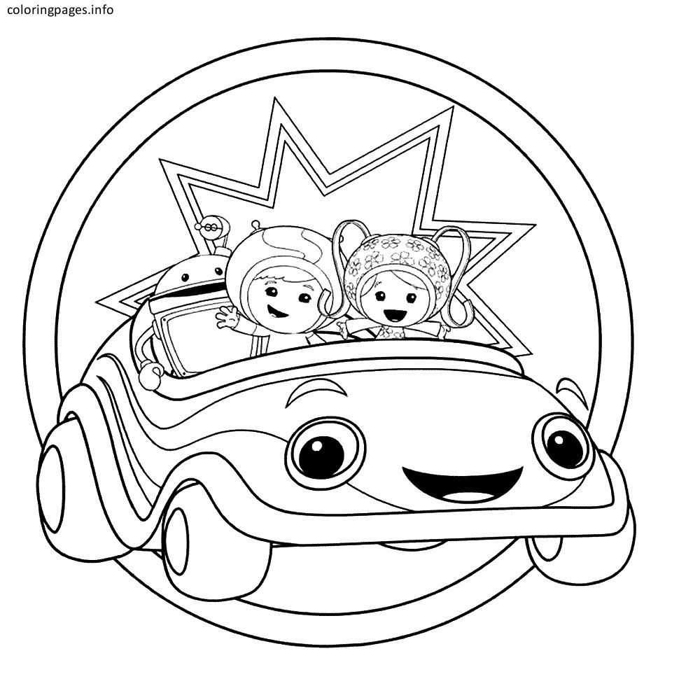 Attractive Team Umizoomi Coloring Pages Free