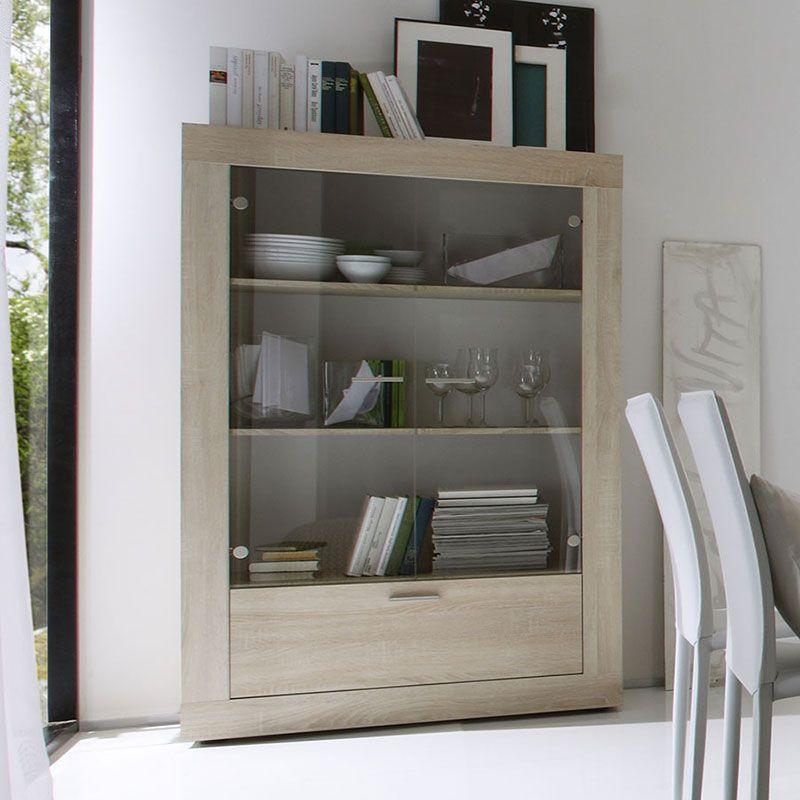 Vaisselier couleur chêne clair contemporain ROMY | Déco : la salle à ...