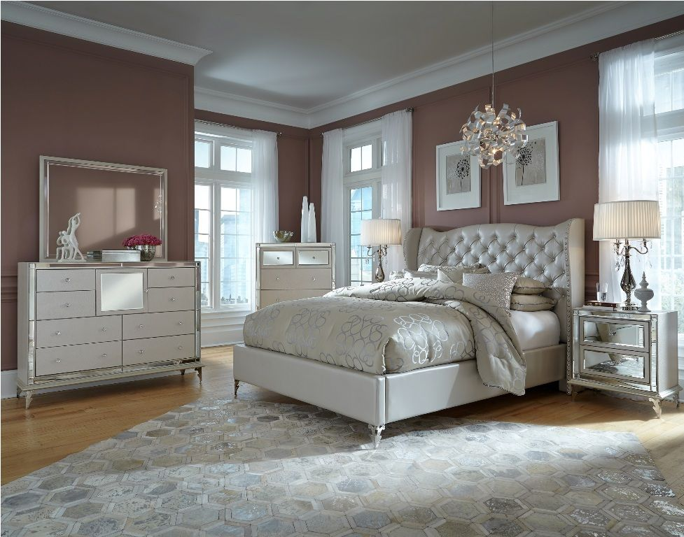 Romantic decoration upholstered bedroom sets for women for Bedroom decor sets