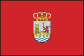 Flag of the city of Orense in Galicia, Spain.