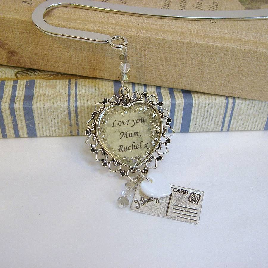 personalised vintage 'love you' bookmark by bunny loves evie | notonthehighstreet.com
