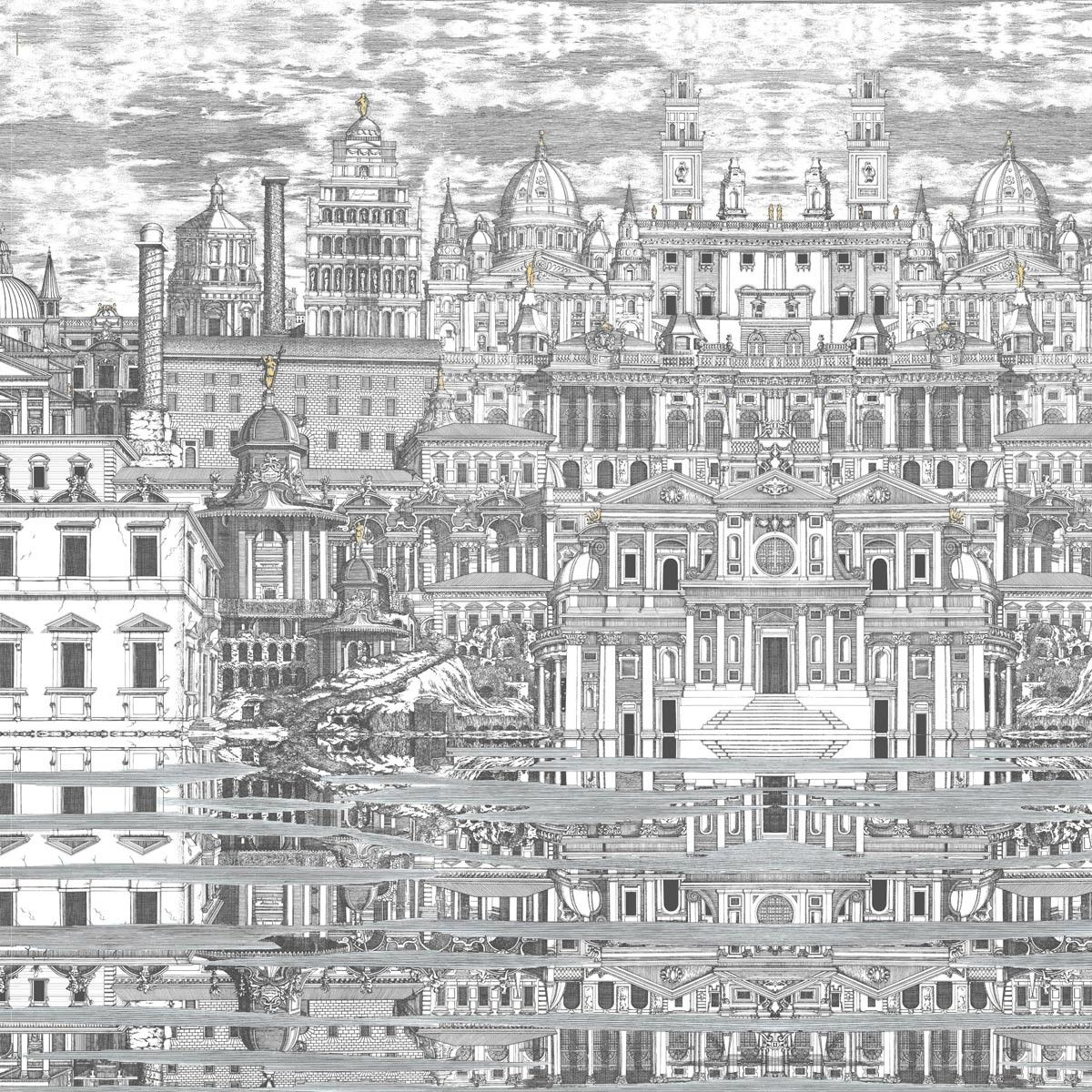 papier peint riflesso fornasetti cole and son architecture pinterest sons. Black Bedroom Furniture Sets. Home Design Ideas