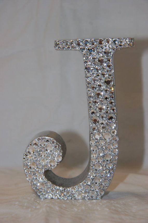 Swarovski Rhinestone Initial. I could make this with paint ...