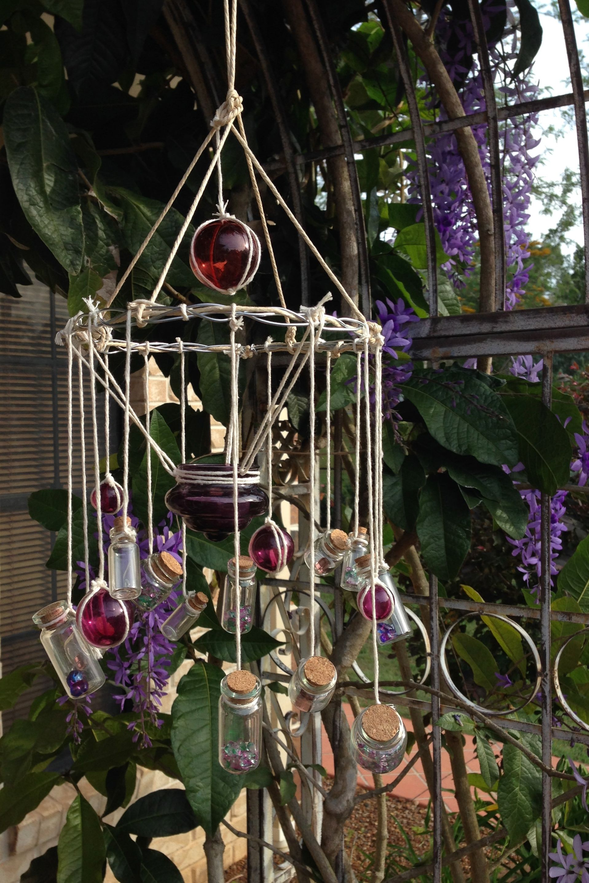 5 DIY Wind Chimes Made Out of Old Bottles - | Wind chimes ...