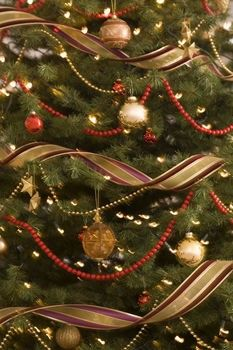 We Ve Decked The Halls Kelleigh Ratzlaff Designs Ribbon On Christmas Tree Red And Gold Christmas Tree Xmas Tree Decorations