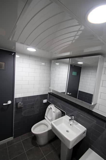 화장실 인테리어 디자인 & 아이디어  화장실, 욕실 및 건축
