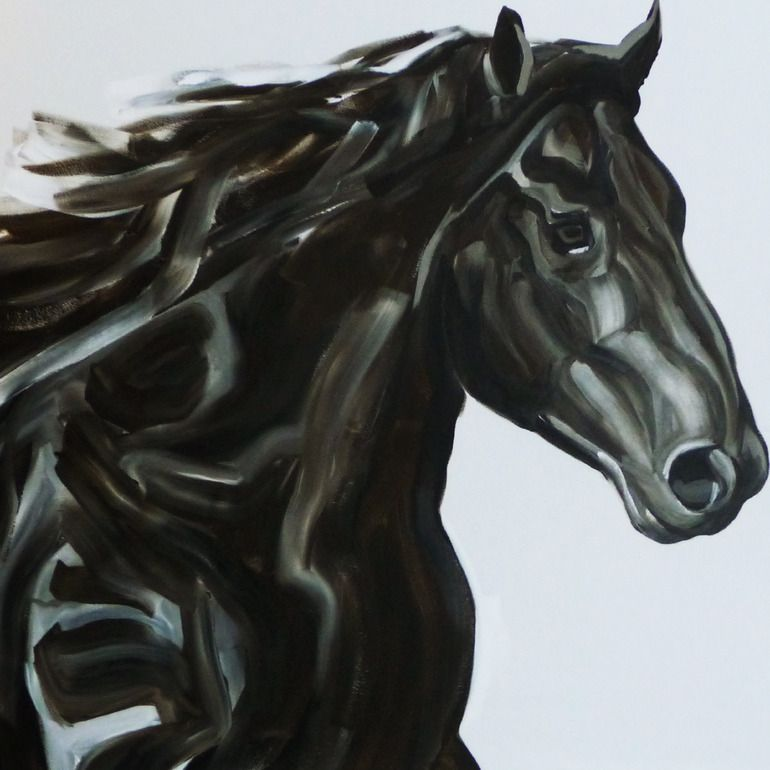 """Saatchi Online Artist: NATHALIE LETULLE; Acrylic, 2012, Painting """"FREE FRISIAN"""""""