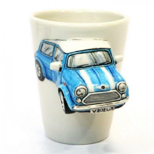 Blue Austin Mini Cooper Mug Classic Automative Ceramic 3D Handmade ...