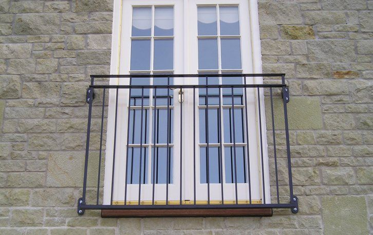 Galvanized and powder coated mild steel byron juliette for French juliet balcony