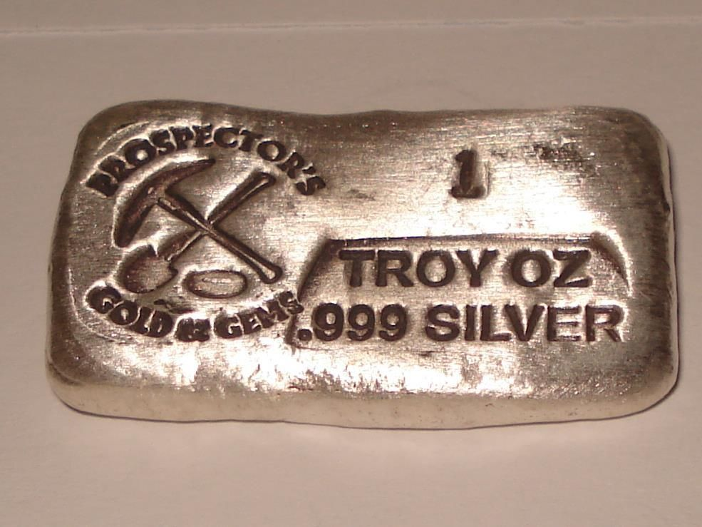 1 Troy Oz Prospector 999 Silver Old Style Bar Rare Silver Bullion Silver Bars Silver