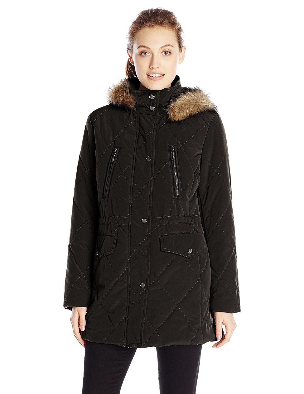 36364a877 Fleet Street Ltd. Women's Diamond-Quilted Anorak Puffer Coat ...